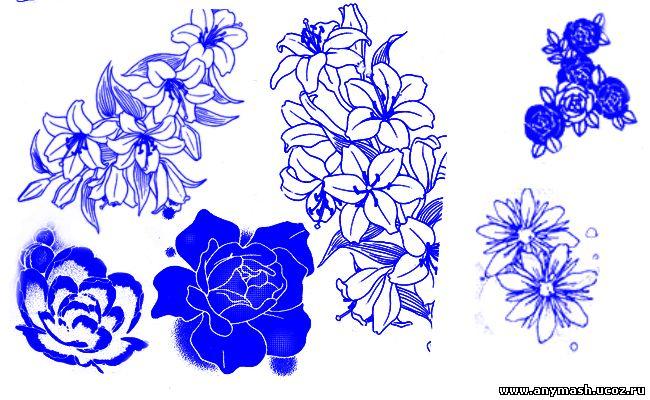 Манга цветы